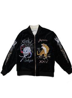 "Neighborhood Reversible Souvenir Jacket ""Black/White"""