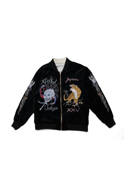 """Reversible Souvenir Jacket """"Black/White"""""""