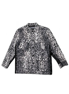 "Neighborhood BDU. Fur Jacket ""Silver Leopard Print"""