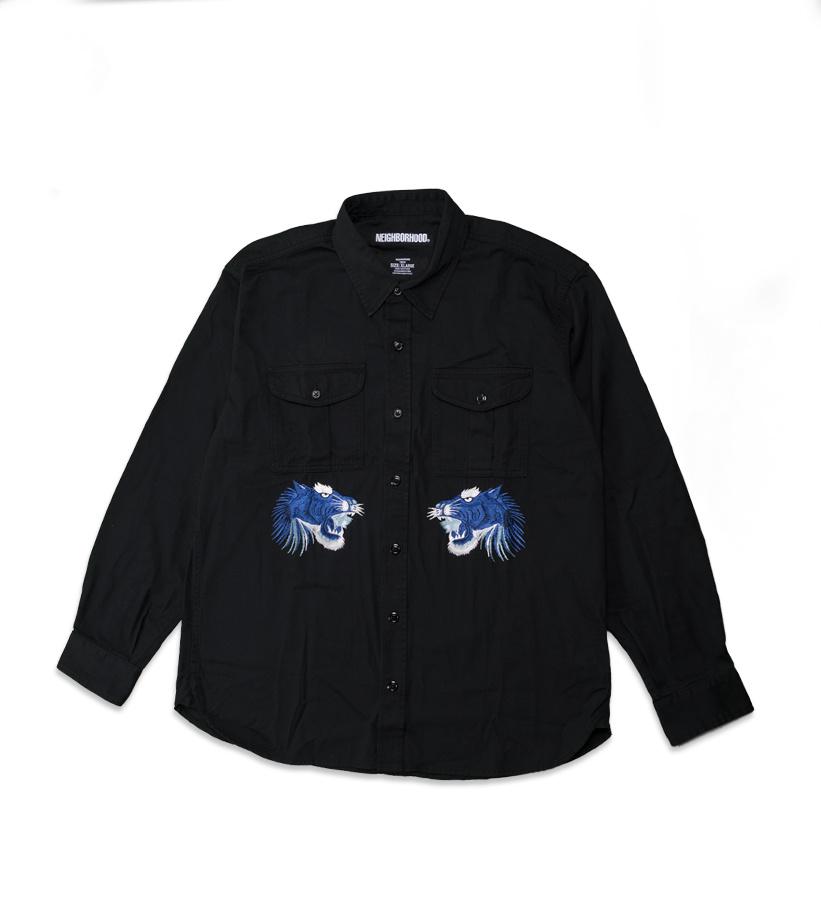 """Denim Shirt """"Black""""-1"""