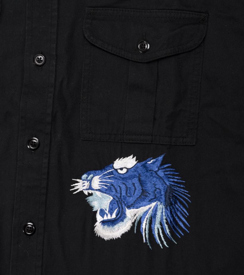 """Denim Shirt """"Black""""-4"""
