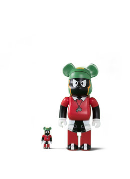 "Medicom Marvin The Martian 100% & 400% Be@rbrick ""Black"""