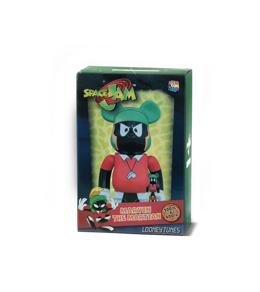 "Marvin The Martian 100% & 400% Be@rbrick ""Black""-2"