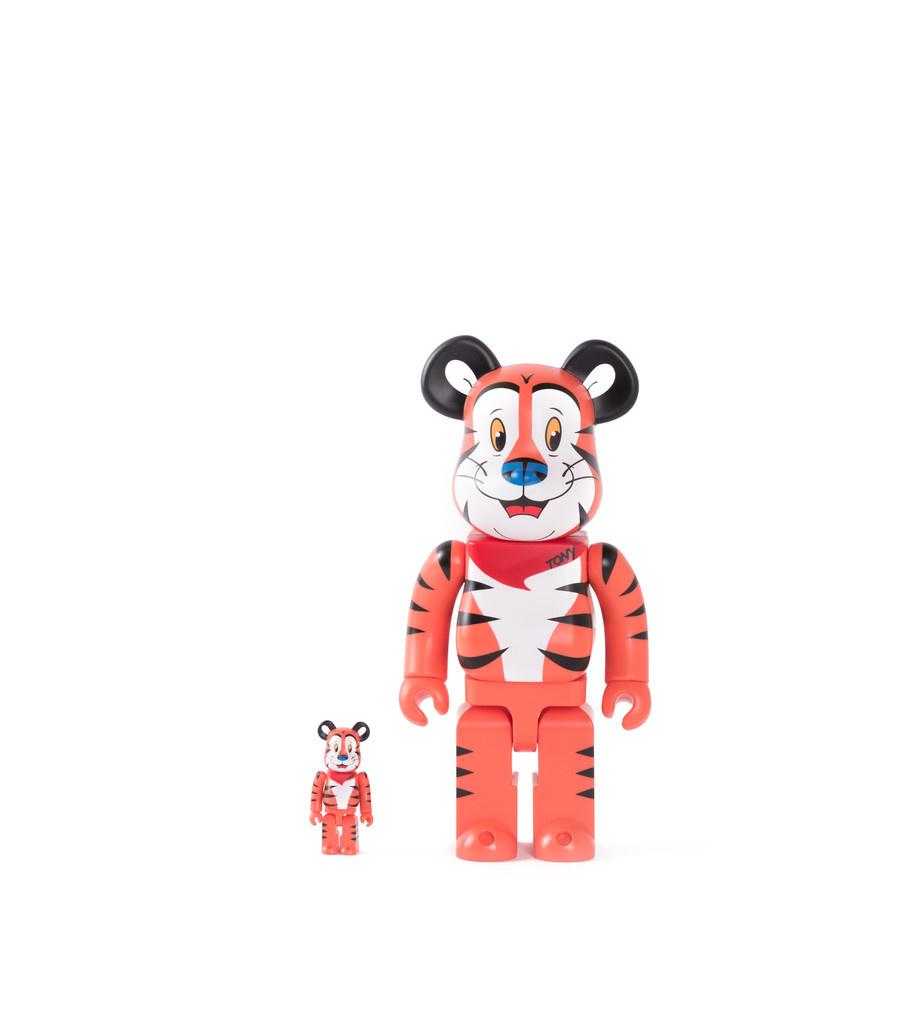 "Tony The Tiger 100% & 400% Be@rbrick ""Orange""-1"