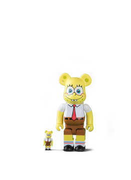 "Medicom Spongebob 100% & 400% Be@rbrick ""Yellow """