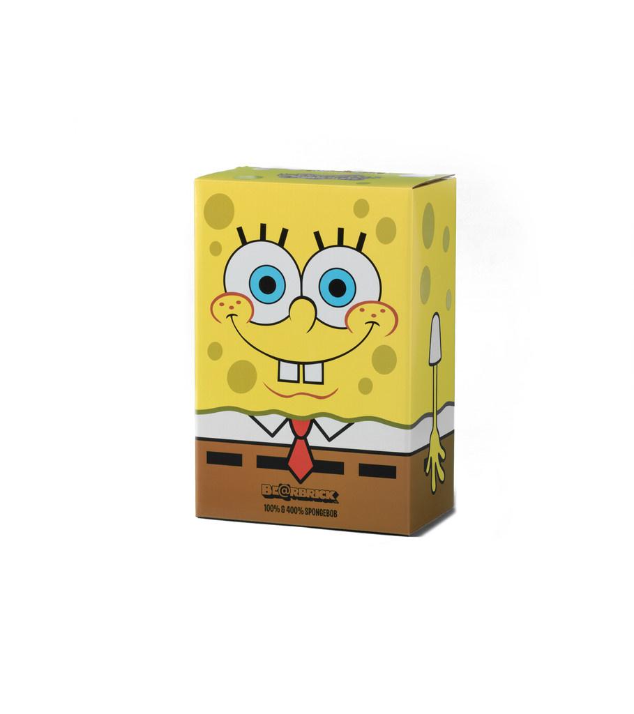 "Spongebob 100% & 400% Be@rbrick ""Yellow ""-2"