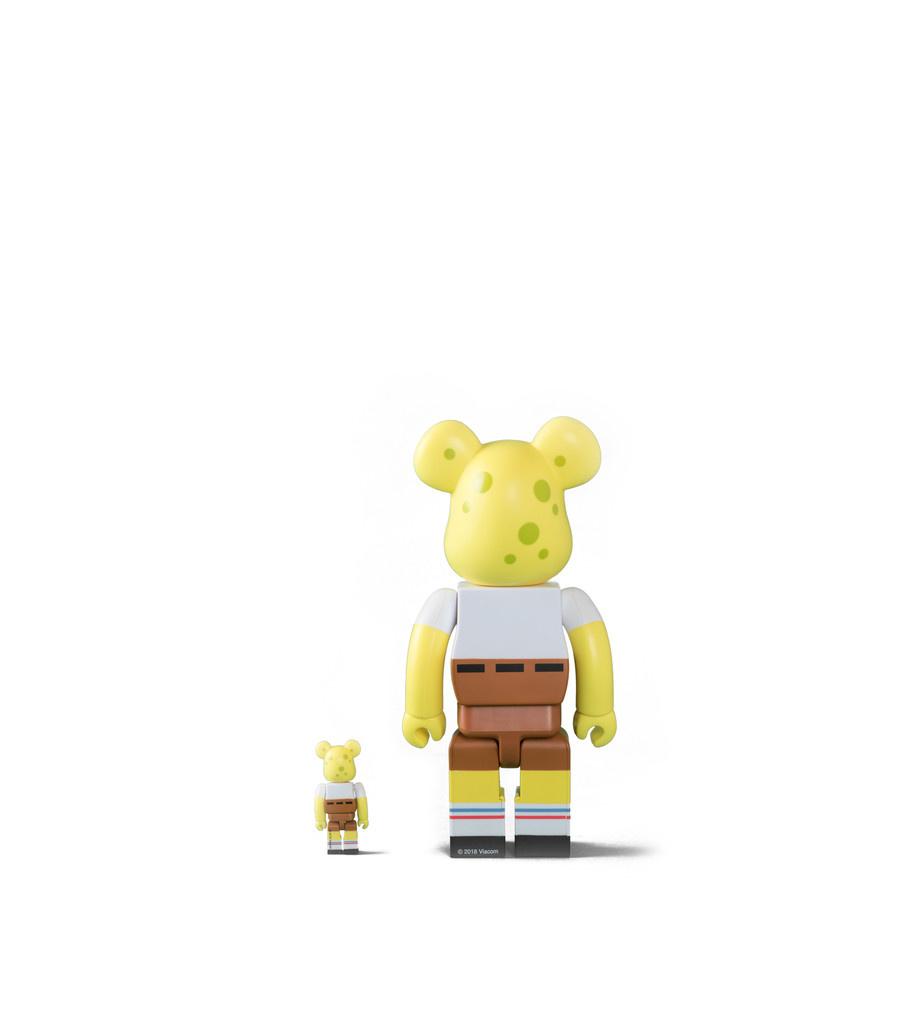 "Spongebob 100% & 400% Be@rbrick ""Yellow ""-3"