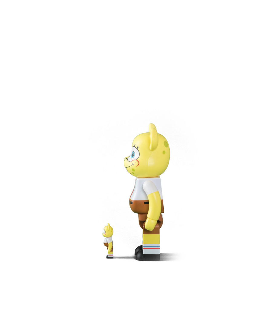 "Spongebob 100% & 400% Be@rbrick ""Yellow ""-4"