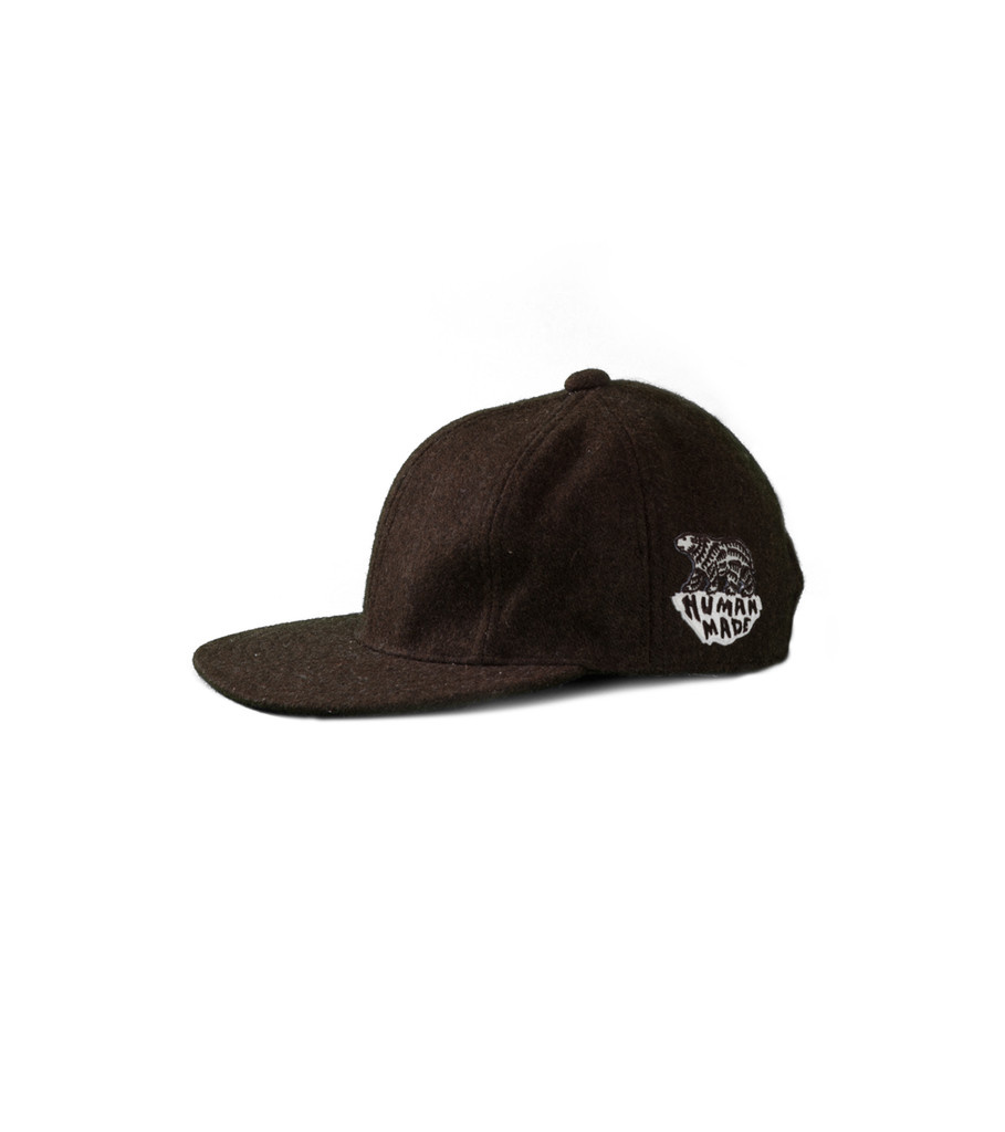 """Wool Blend Cap """"Brown""""-1"""