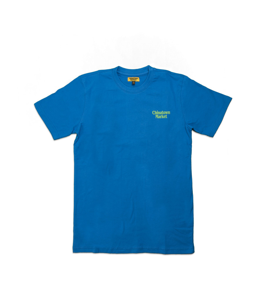 "Chinatown Market Call My Lawyer Tee ""Blue/Green"""