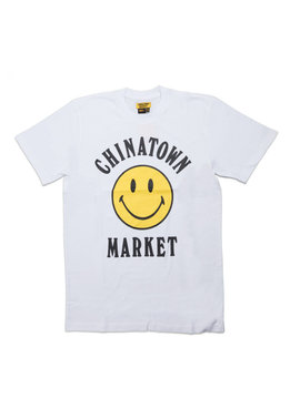 "Chinatown Market Smiley Logo Tee ""White"""