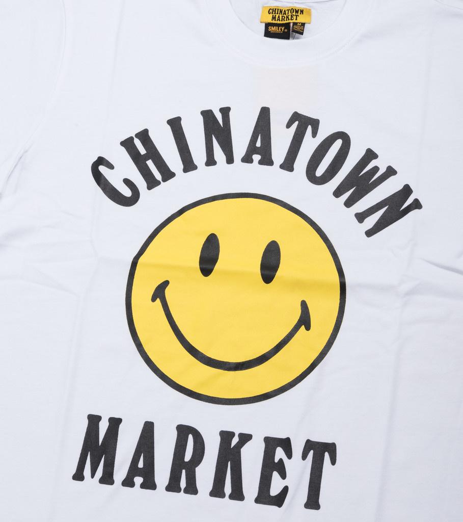 """Chinatown Market Smiley Logo Tee """"White"""""""