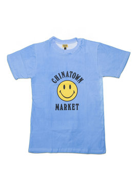 "Chinatown Market Smiley Logo Color Change Tee ""Blue"""