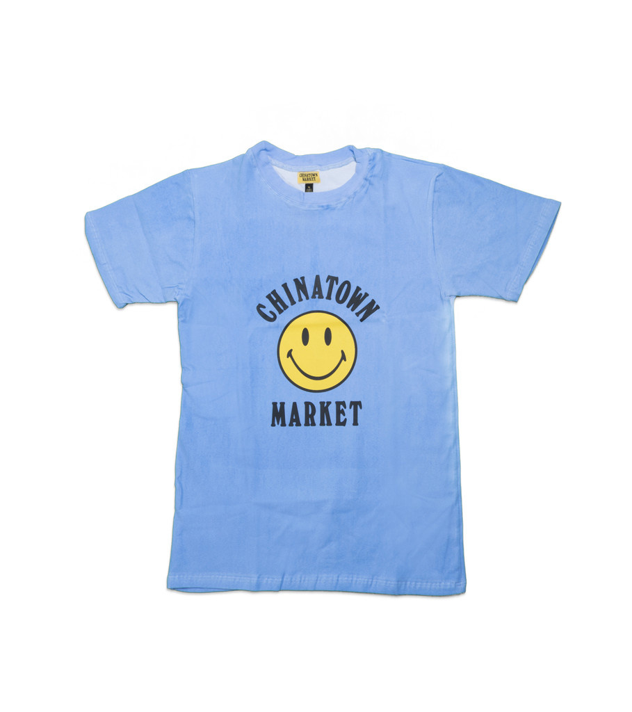 """Chinatown Market Smiley Logo Color Change Tee """"Blue"""""""