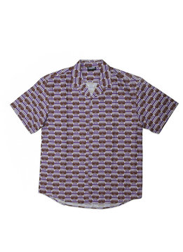"Pleasures Highway Short Sleeve Button Up Shirt ""Purple"""