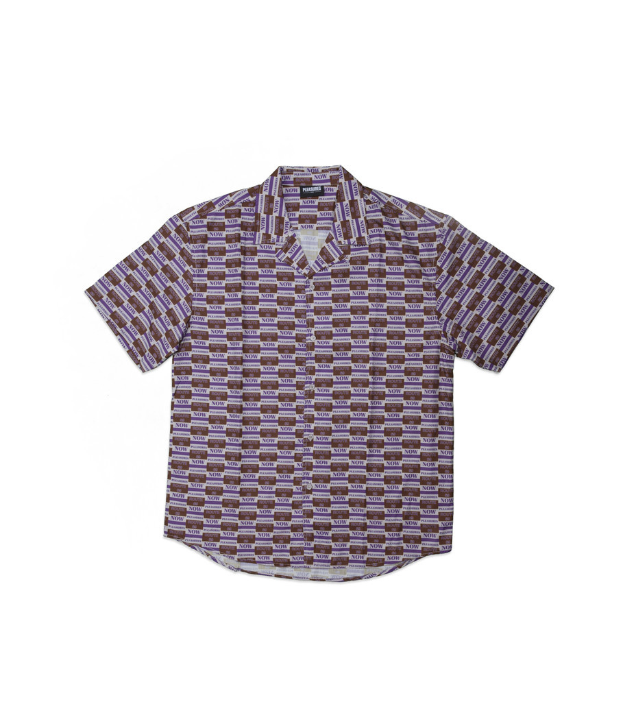 "Highway Short Sleeve Button Up Shirt ""Purple""-1"