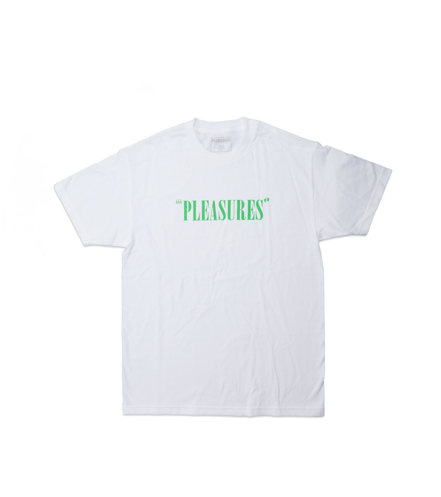 "Pleasures Balance Logo Tee ""White"""