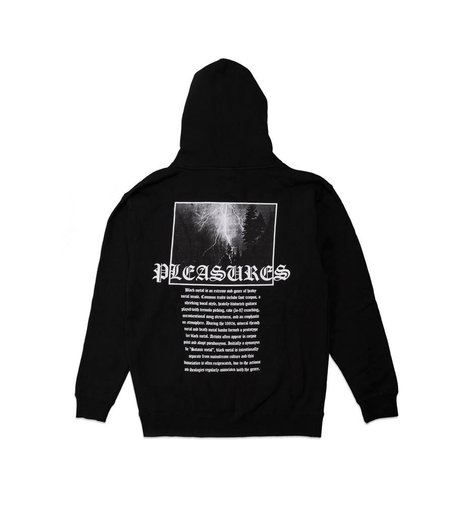"""Pleasures Black Metal Hoodie """"Black"""""""