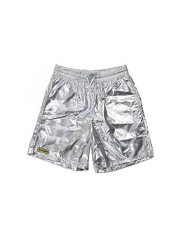 "Pleasures Liquid Metallic Shorts ""Silver"""