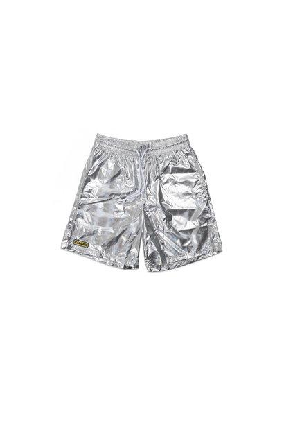 "Liquid Metallic Shorts ""Silver"""