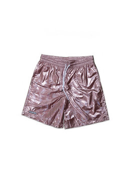 "Pleasures Liquid Metallic Shorts ""Pink"""
