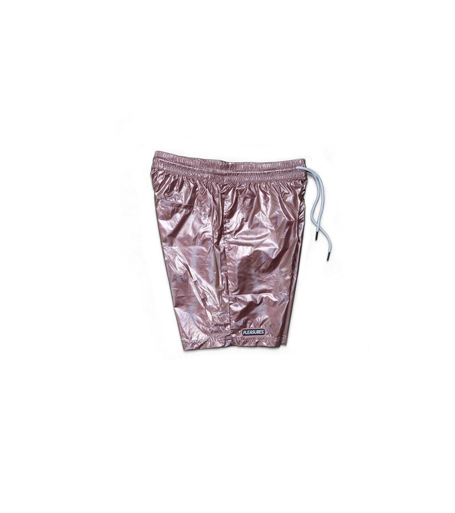 "Pleasures Liquid Metallic Shorts ""Pink"""