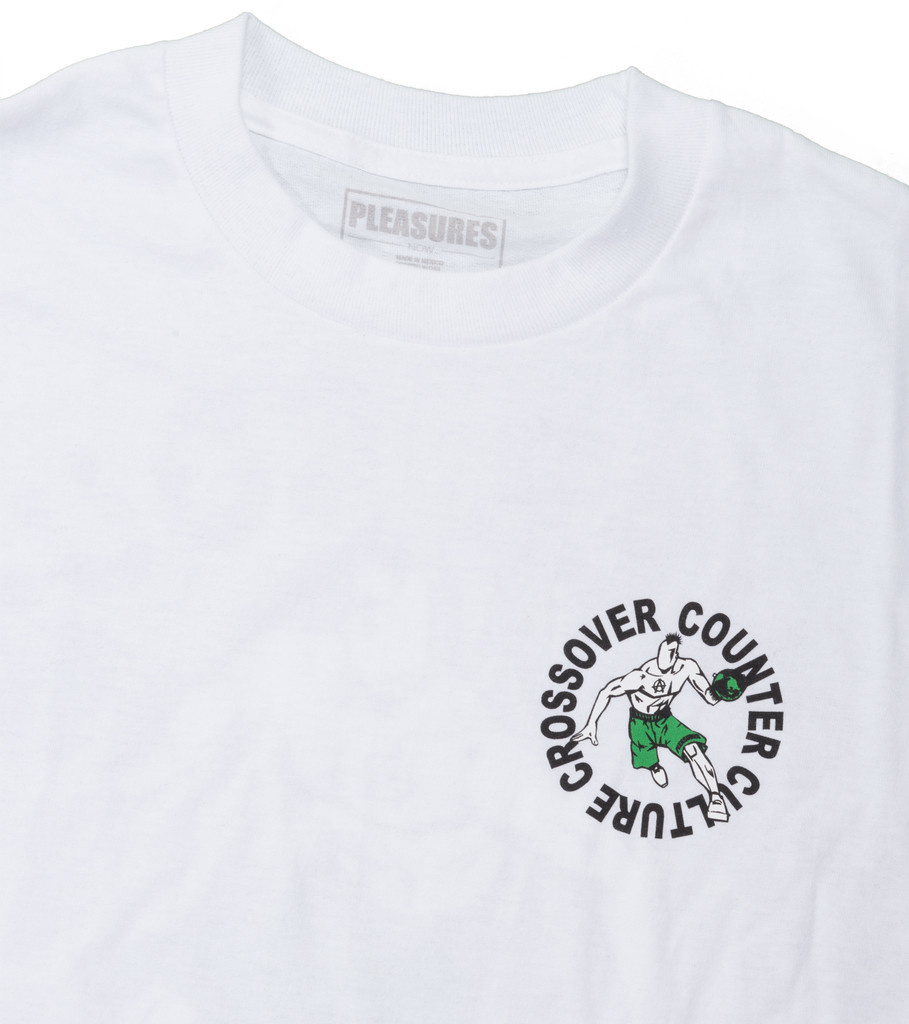 "Pleasures Crossover Tee ""White"""