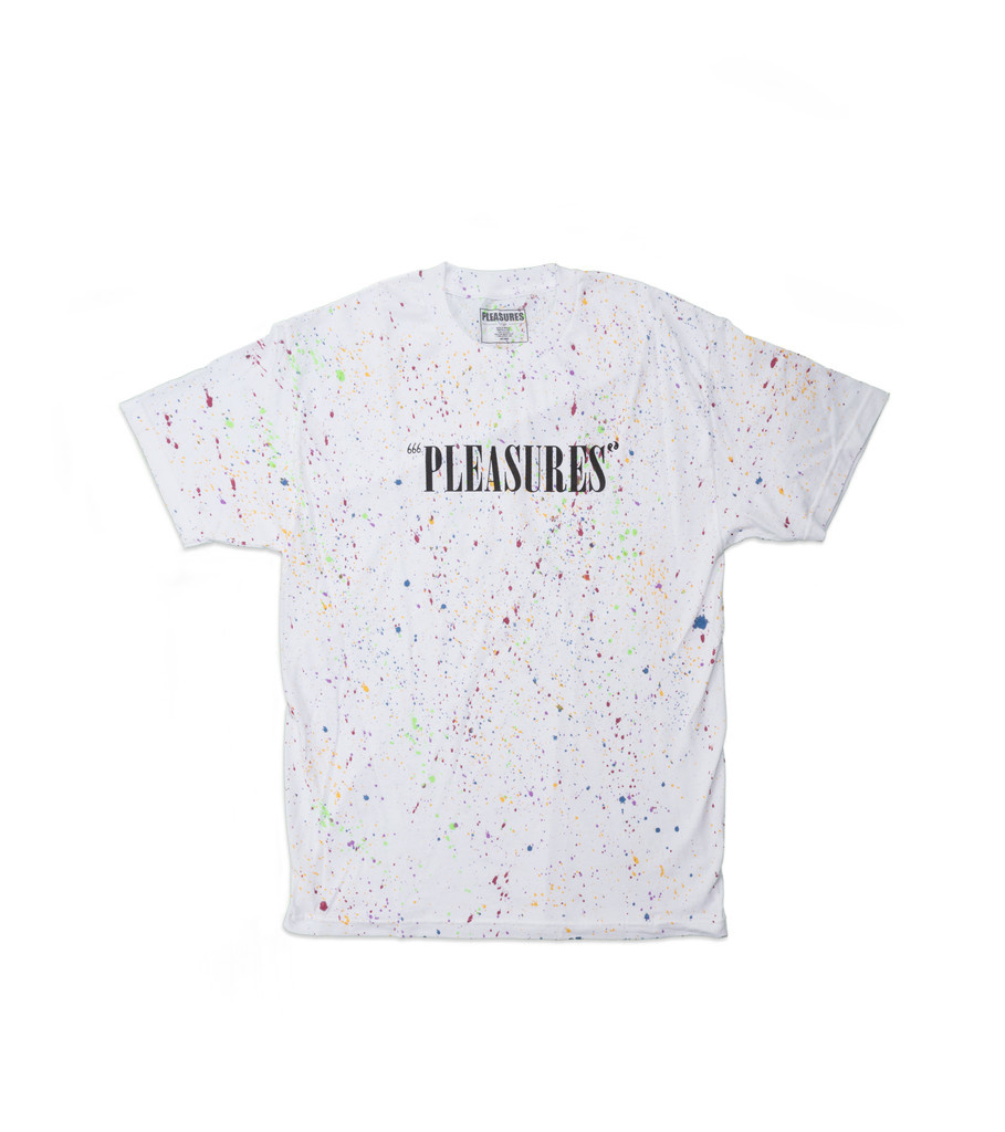 "Pleasures Balance Tye Dye Tee ""Speckle White"""