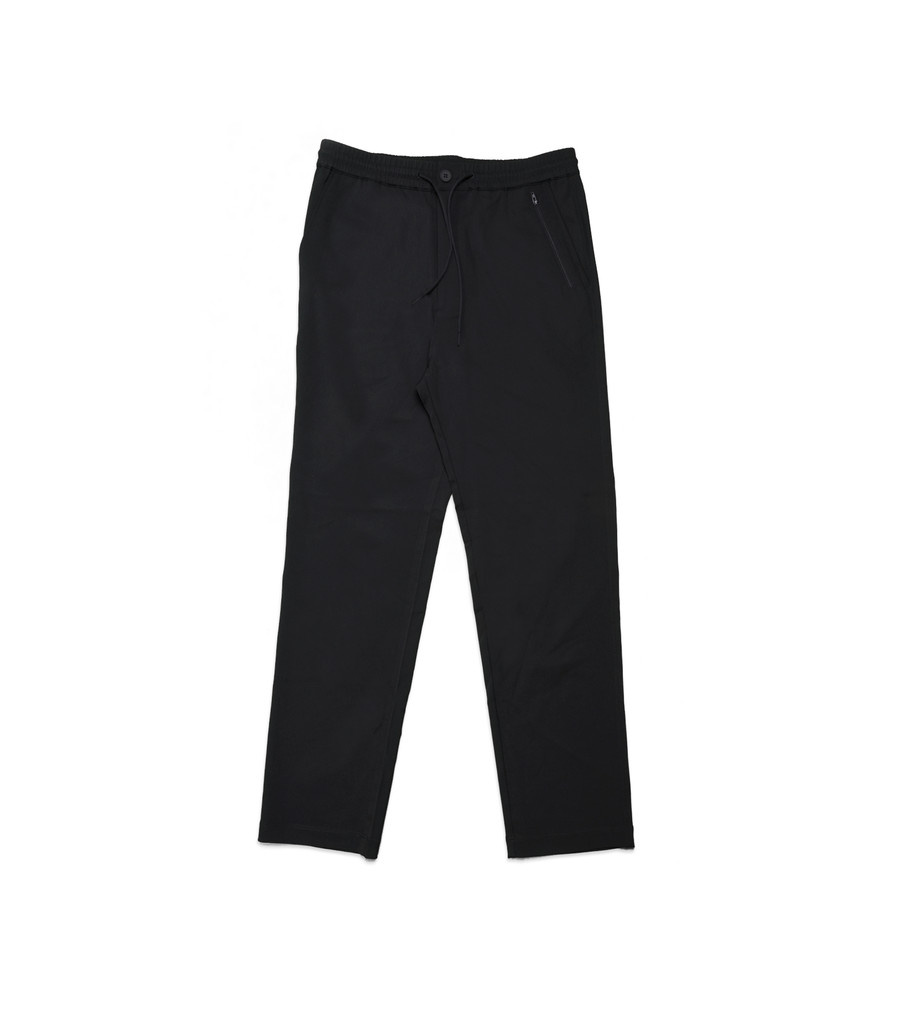 "Y-3 Wool Satin Straight Legs Pants ""Black""-1"