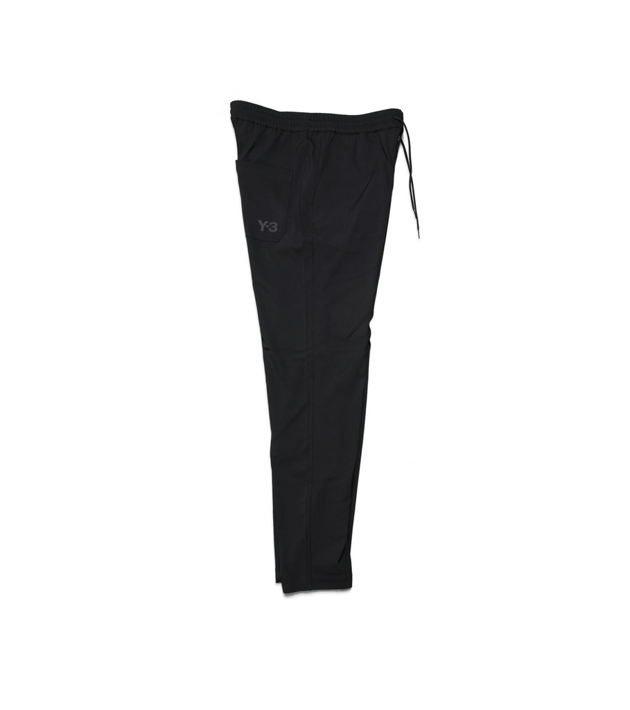"Y-3 Wool Satin Straight Legs Pants ""Black""-2"