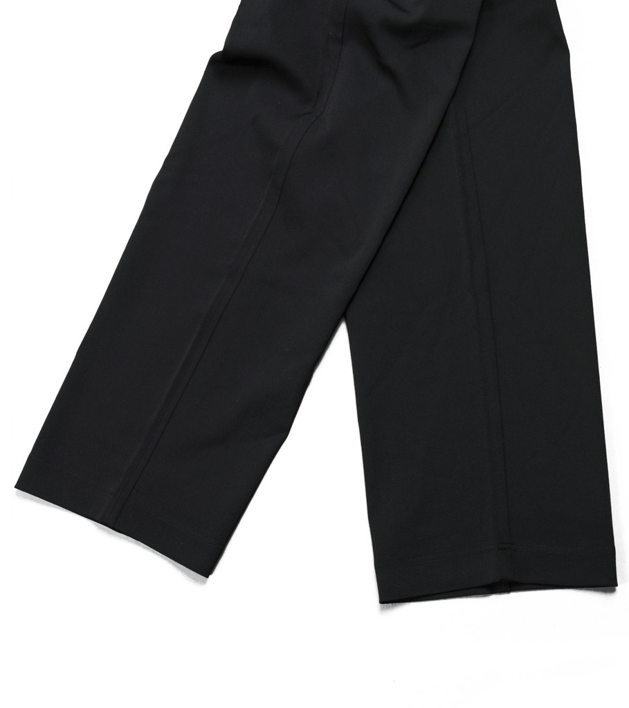 "Y-3 Wool Satin Straight Legs Pants ""Black""-3"