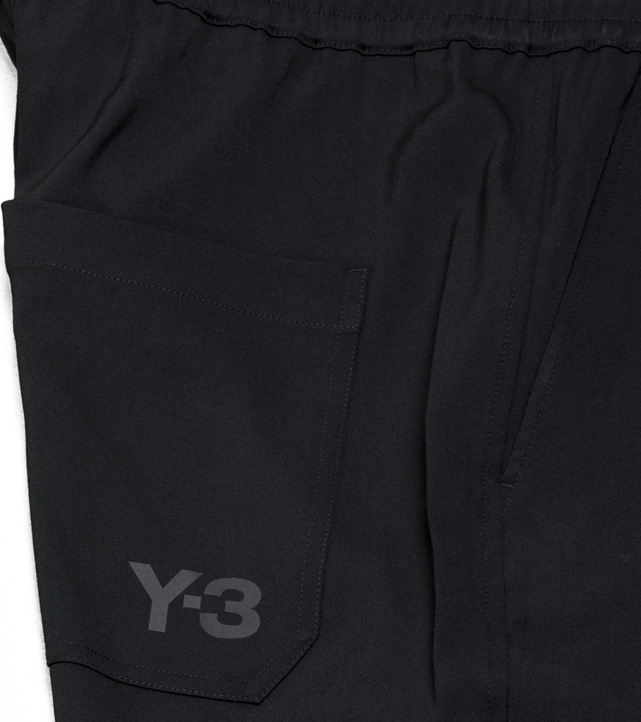 "Y-3 Wool Satin Straight Legs Pants ""Black""-5"