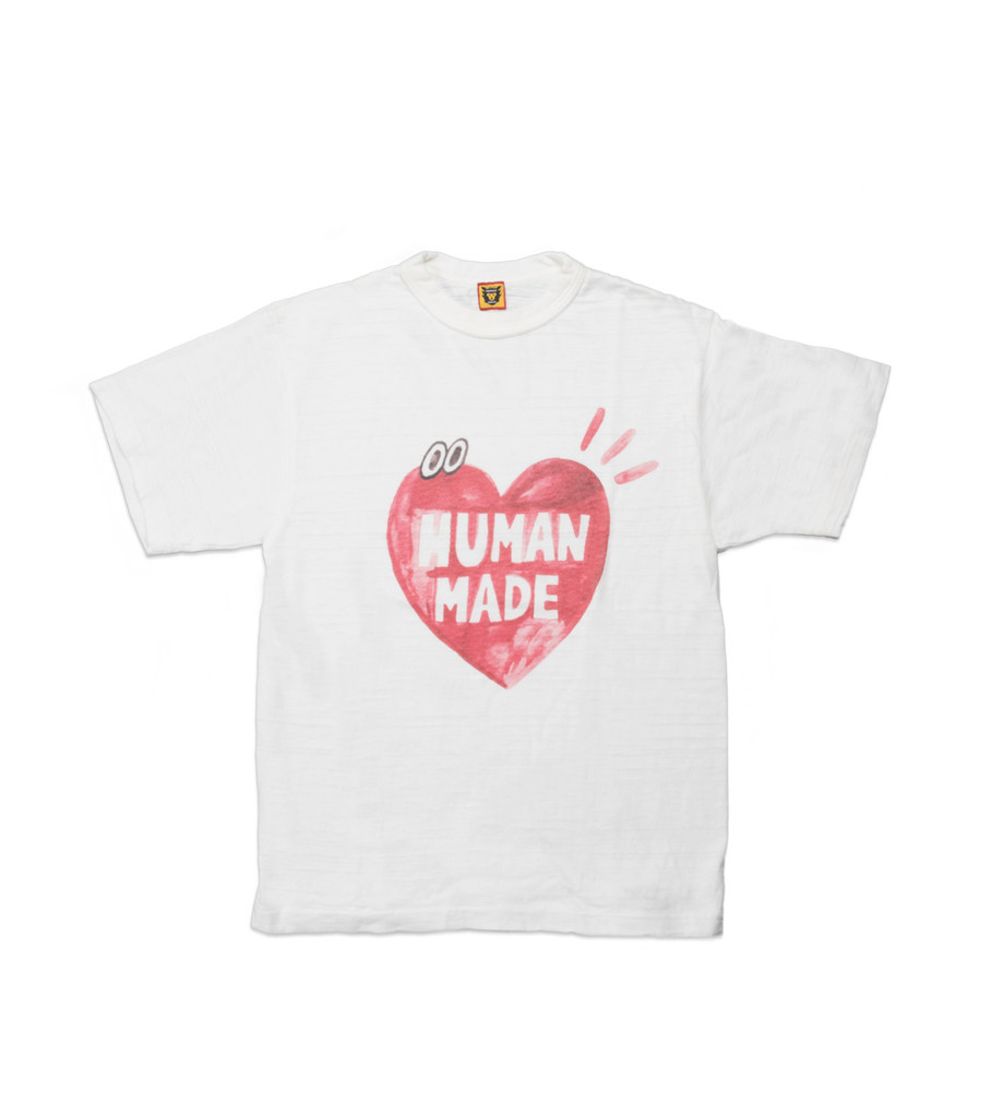 "Human Made Vintage Heart Eyes Tee ♯1310 ""White"""