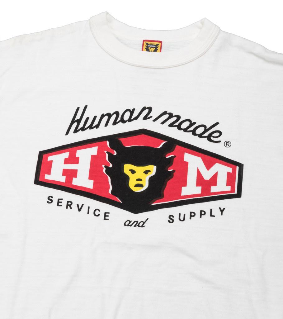 "Human Made Service & Supply Tee ♯1404 ""White"""