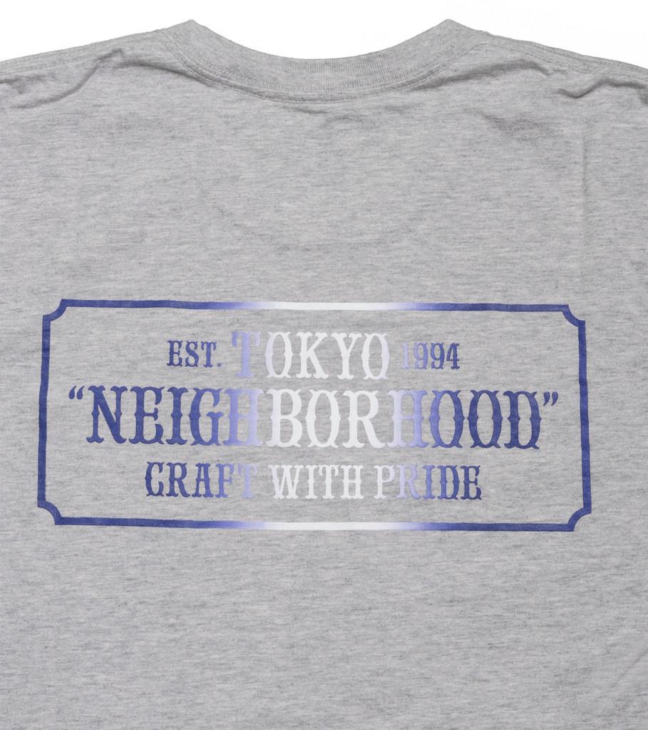 """Neighborhood Bar & Shield Tee """"Grey"""""""