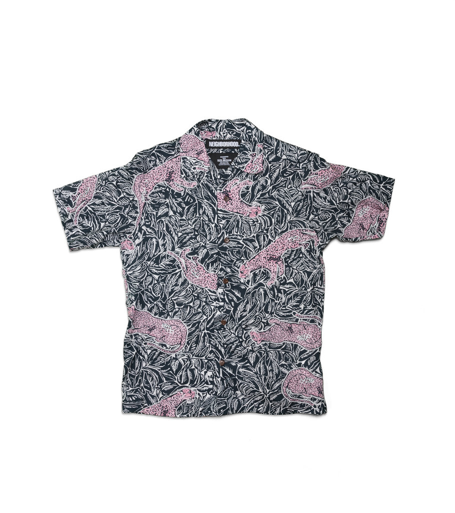 "Neighborhood Aloha Panther Shirt ""Navy"""