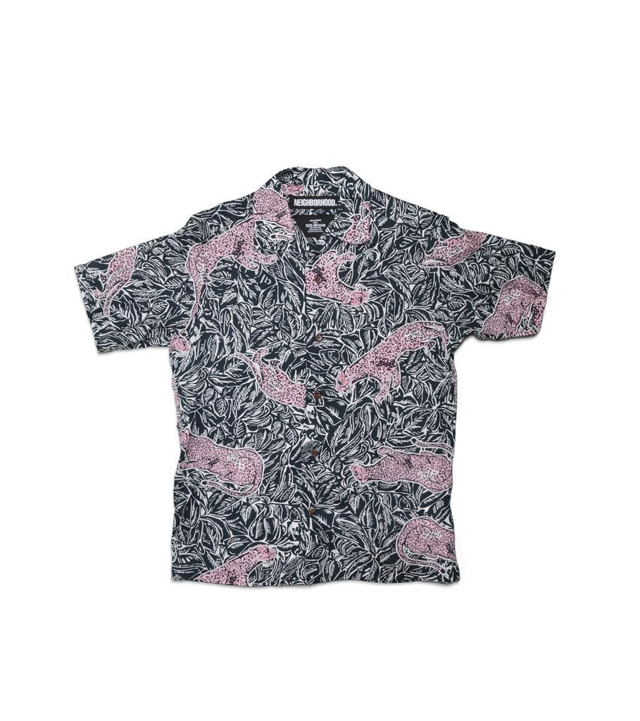 """Neighborhood Aloha Panther SS Shirt """"Navy"""""""