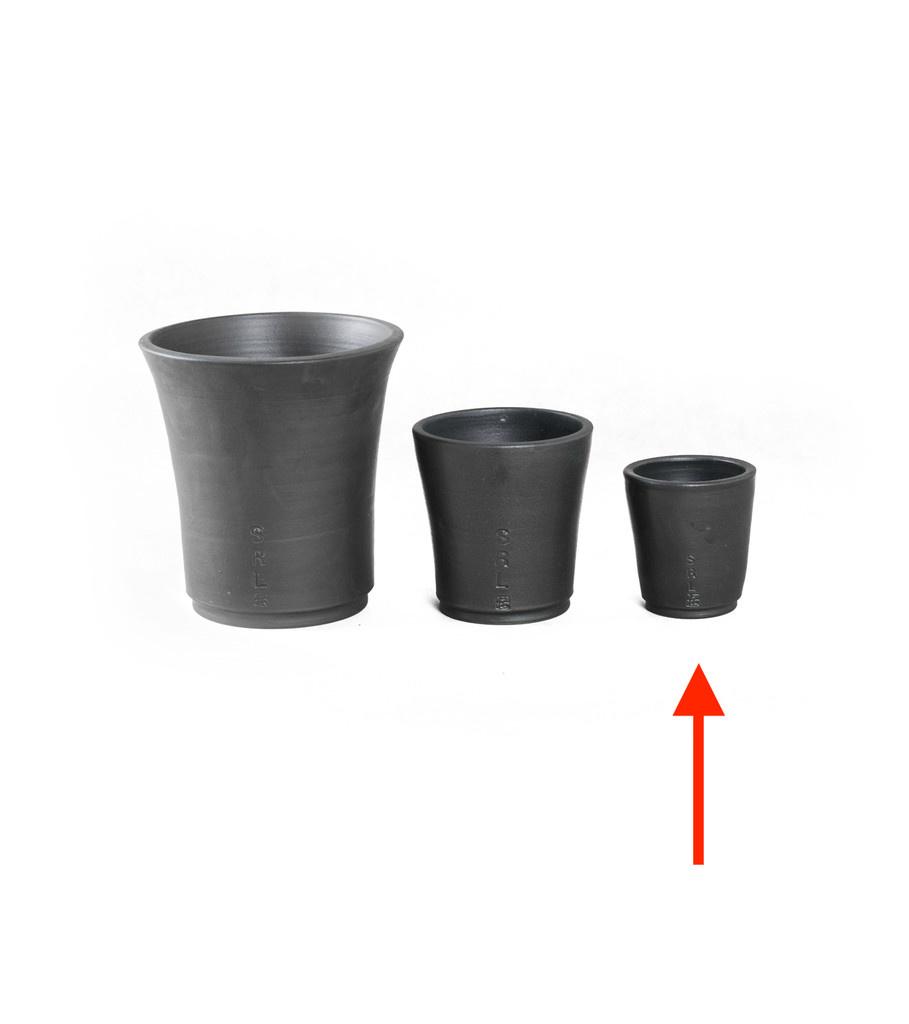 "SRL Den-3S Plant Pot ""Black""-4"