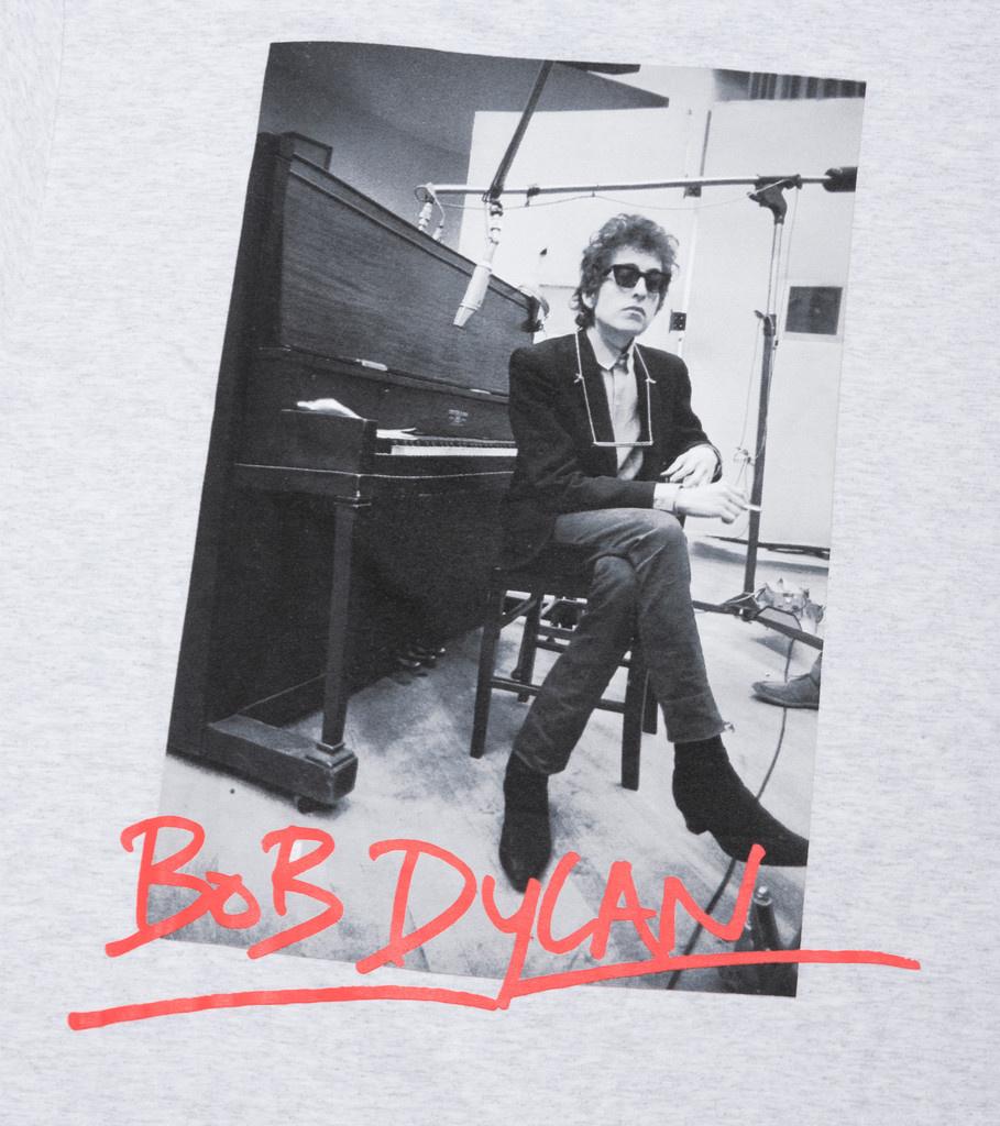"""Pleasures Bob Dylan Heaven's Door Tee """"Ash Grey"""""""