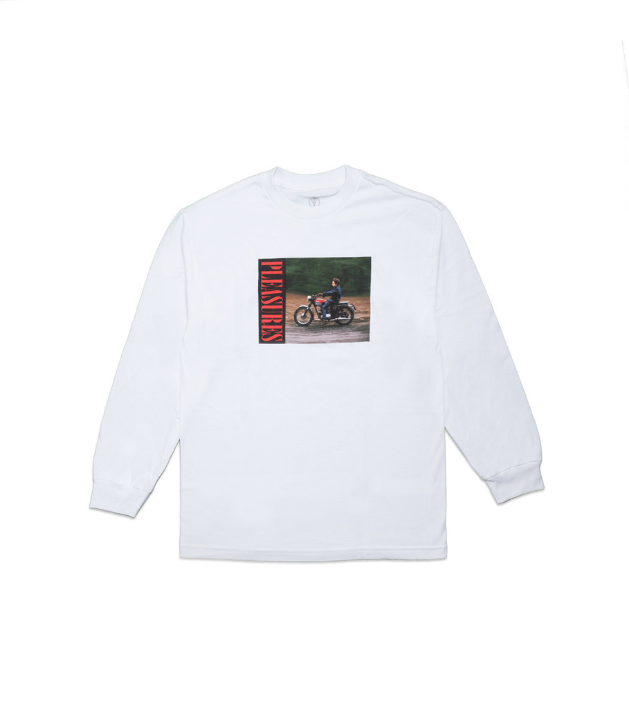 "Pleasures Bob Dylan Ride LS Tee ""White"""