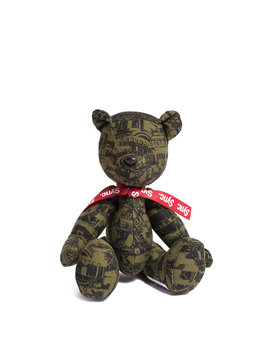 "Medicom Kosuke Kawamura Dollar Teddy Bear ""Khaki"""
