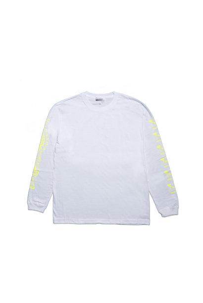 """Kosuke Kawamura Spam LS Tee """"White/Neon Yellow"""""""