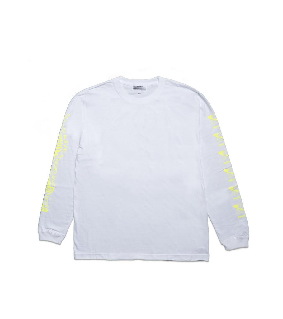 """Kosuke Kawamura Spam LS Tee """"White/Neon Yellow""""-1"""