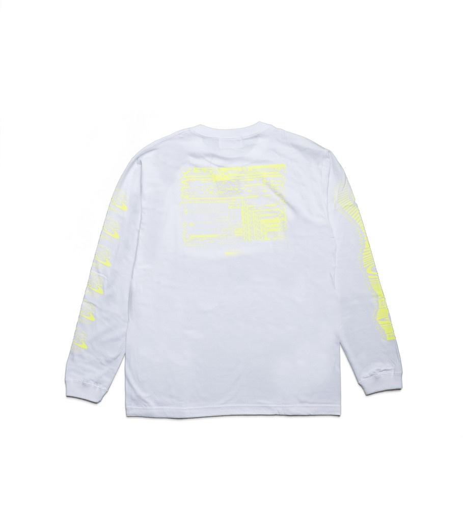 """Kosuke Kawamura Spam LS Tee """"White/Neon Yellow""""-2"""