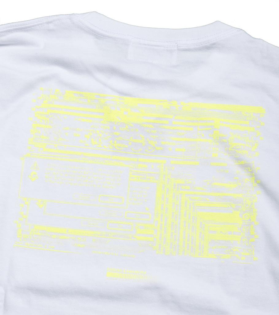 """Kosuke Kawamura Spam LS Tee """"White/Neon Yellow""""-4"""