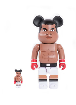 "Medicom Muhammad Ali 100% & 400% Be@rbrick ""Brown"""