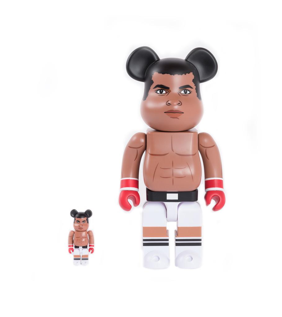 "Muhammad Ali 100% & 400% Be@rbrick ""Brown""-1"