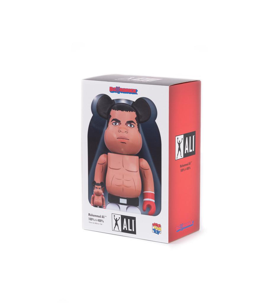 """Medicom Muhammad Ali 100% & 400% Be@rbrick """"Brown"""""""
