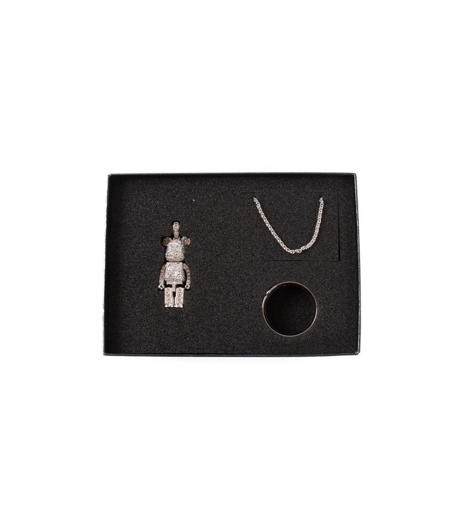 "Be@rbrick Stardust Necklace ""Silver""-3"