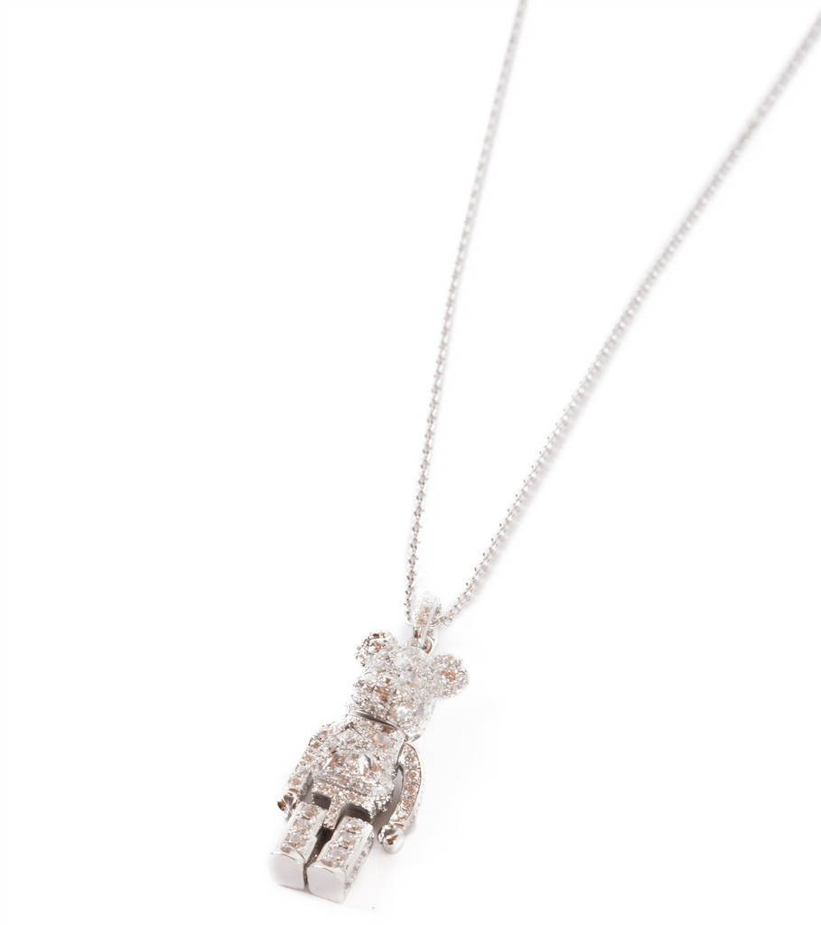 "Be@rbrick Stardust Necklace ""Silver""-4"